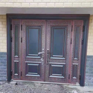 铸铝门安装