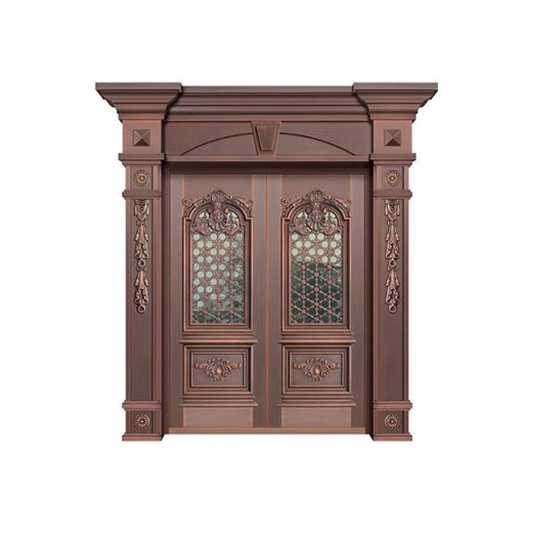 优质玻璃铜门