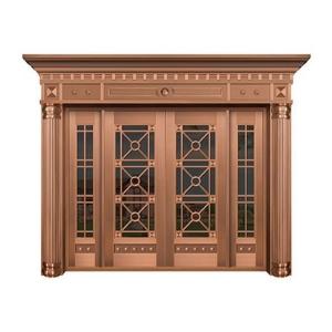 美式玻璃铜门