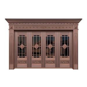中式玻璃铜门