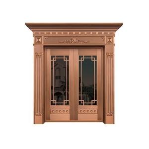 高级玻璃铜门