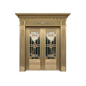 玻璃单铜门