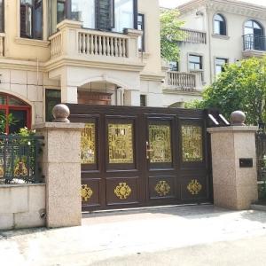 别墅庭院铸铝门